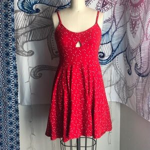 Dresses & Skirts - Urban Outfitters Red Heart Print Dress